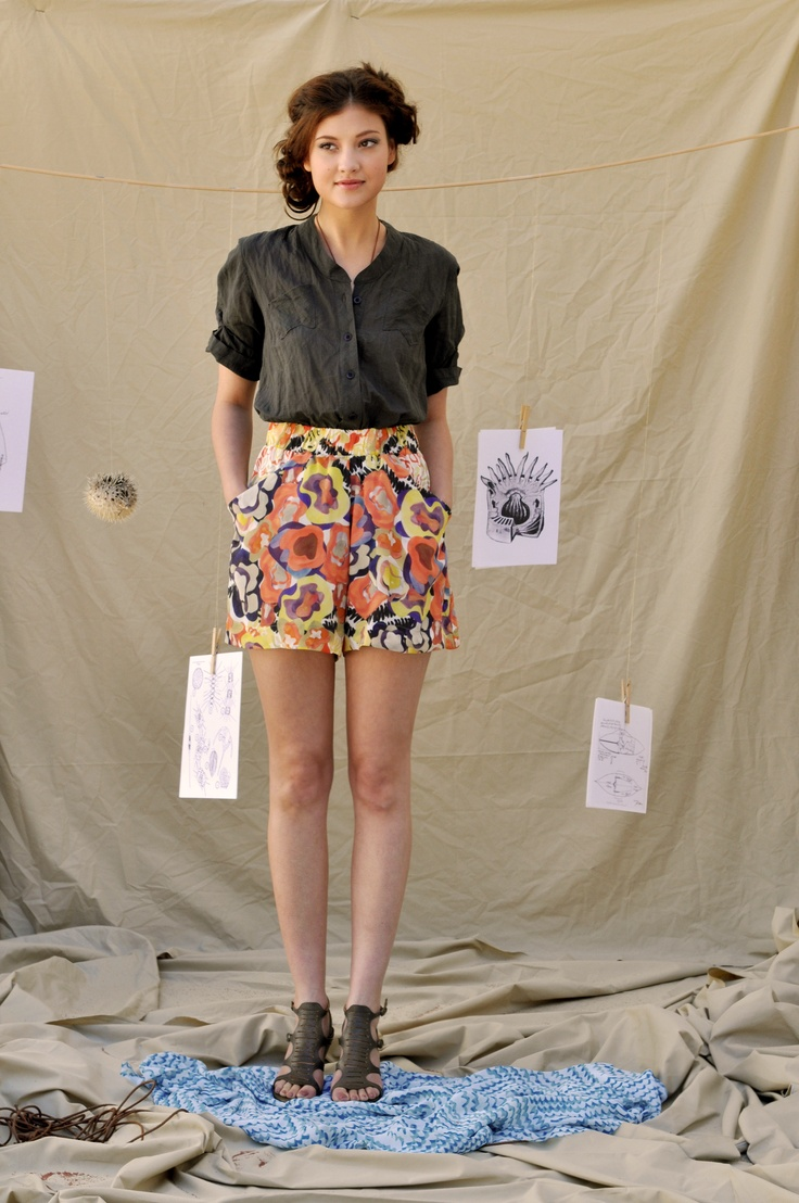Feral Childe Camp Shirt and Anemone Shorts.