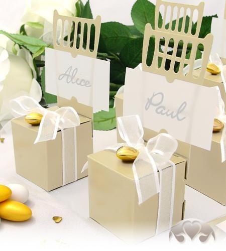 12x Kartonagen Gastgeschenke Hochzeit Tischkartenhalter Stuhl creme Kärtchen   eBay