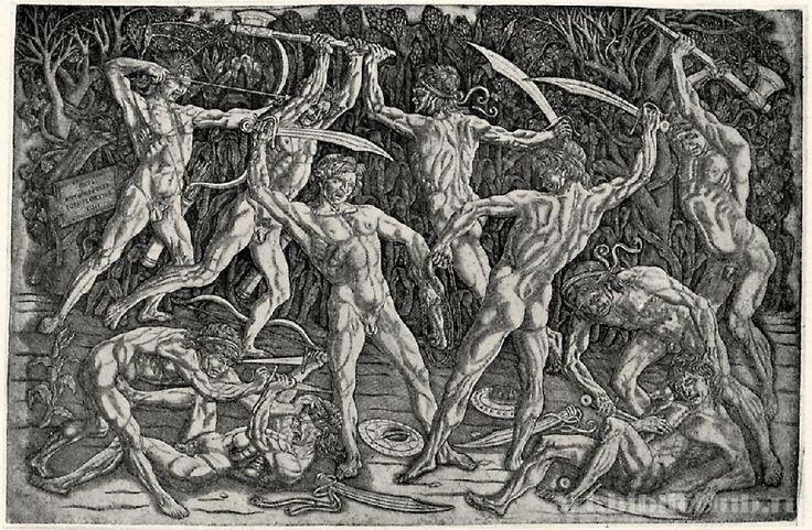 Антонио дель Поллайоло. Битва десяти обнаженных. 1470-е гг.
