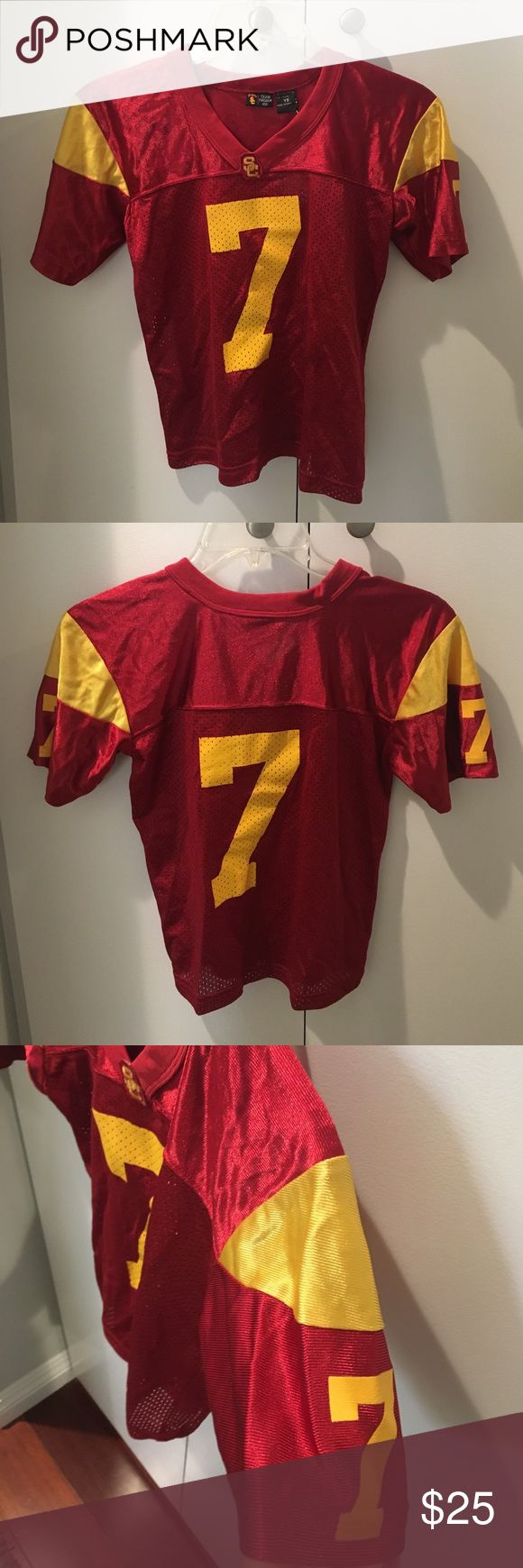 USC Trojans youth football jersey Brand new with tags USC Trojans youth football jersey. This was bought from the USC book store. Number 7 jersey. Costumes Seasonal