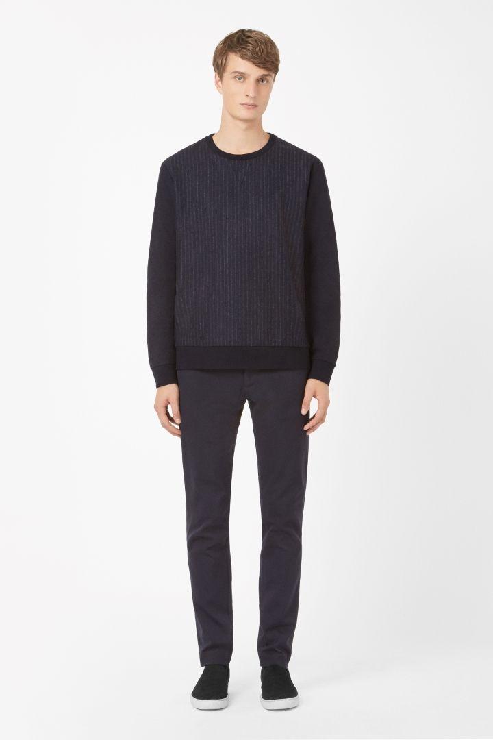 COS   Pinstripe wool sweatshirt