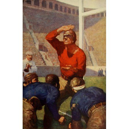 Scribners Magazine 56 1914 American Football Canvas Art - H Howland (18 x 24)