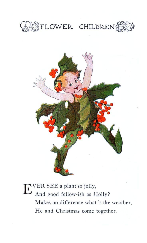 Flower Children By Elizabeth Gordon Vintage Reproduction Photo Print No 14 Of 84 A4Printsuk