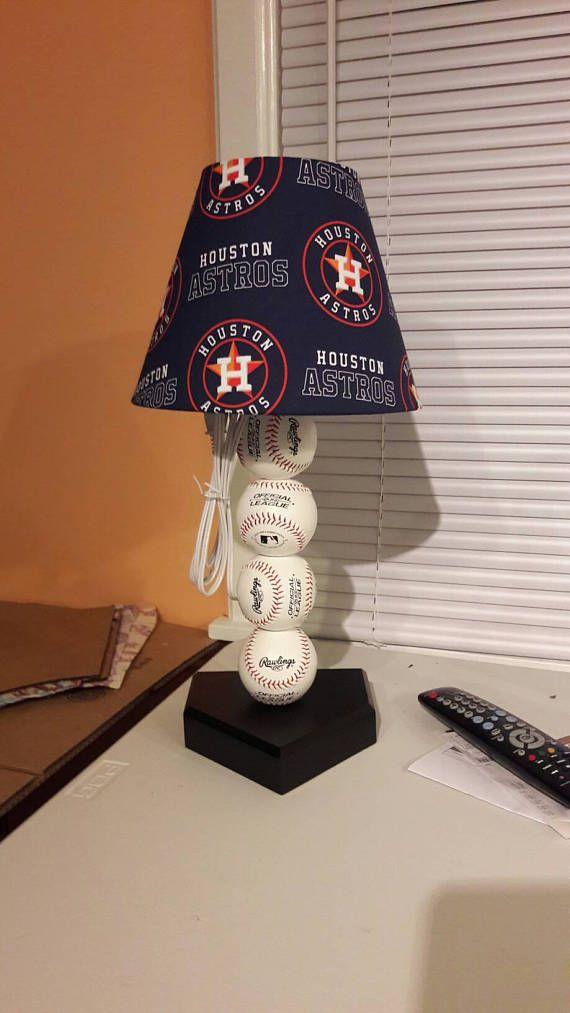 Houston Astros Lamp Shade Baseball Shades Are 9 5 X 5 X 7 Tall