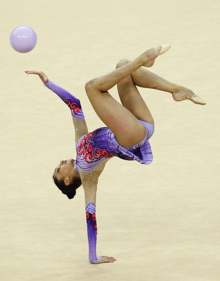 Djamila Rakhmatova in FIG Rhythmic Gymnastics Olympic Qualification - LOCOG Test Event for London 2012: Day One