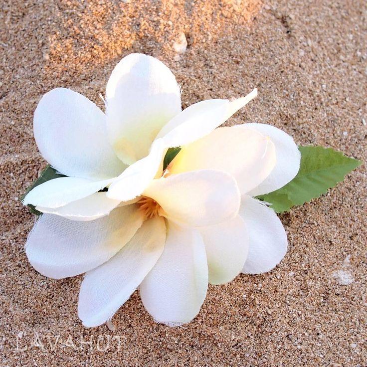 Petite Plumeria White Hawaiian Flower Hair Clip
