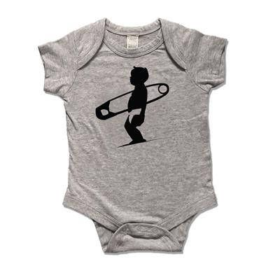 Surfer Baby Boy one piece Body suit with cool new diaper pin