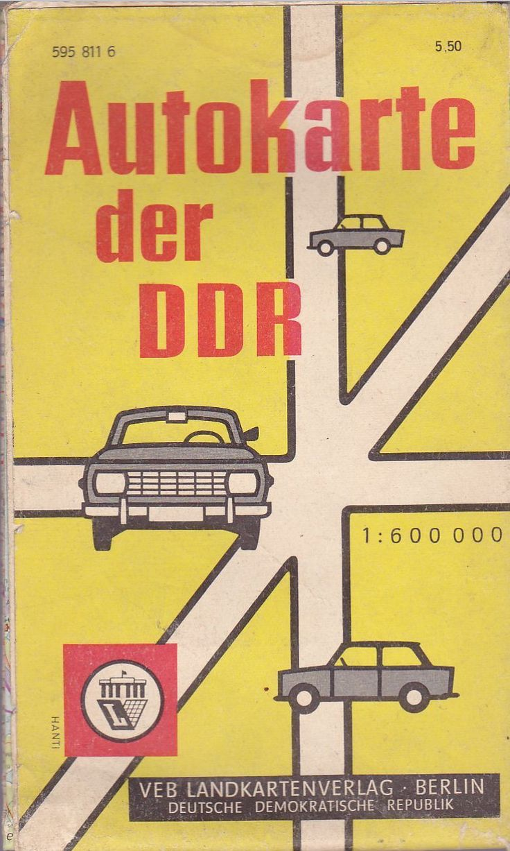 Cover of a road atlas, East Germany (via German At Pompey)