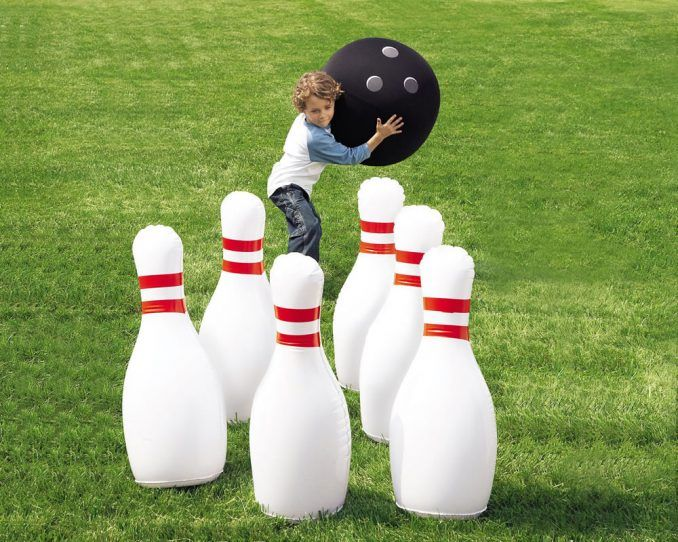 Giant Inflatable Bowling Game Yard Games For Kids Kids Party Games Wedding Games