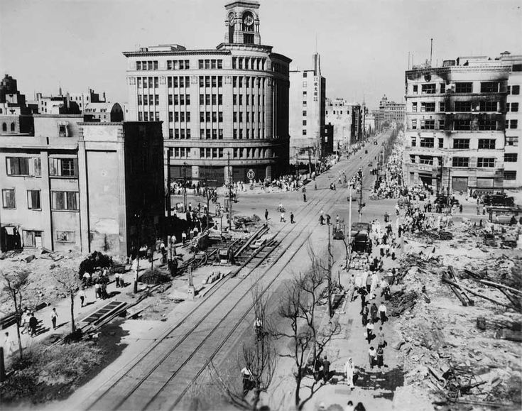 The Ginza — Tokyo main shopping district, 1945
