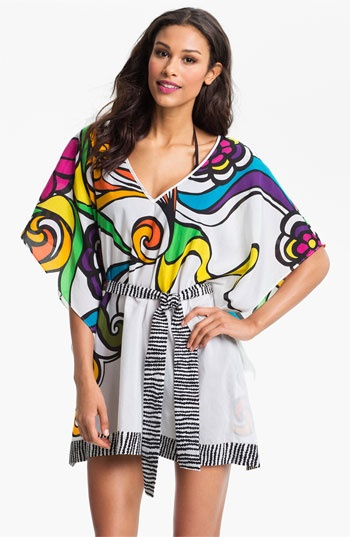 Trina Turk 'Aquarius' Cotton & Silk Tunic available at #Nordstrom