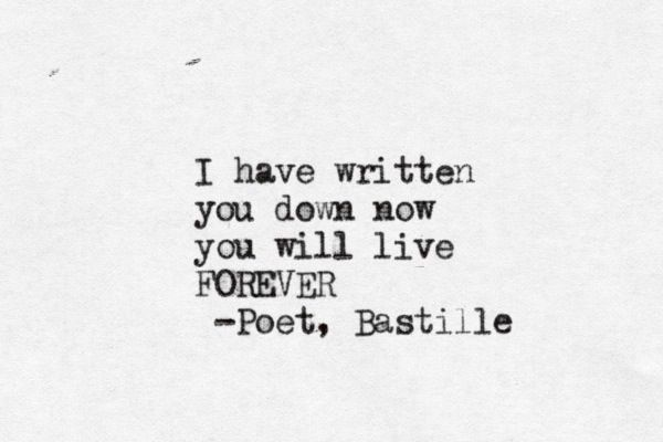 Poet - Bastille   This is seriously one of my favorites of their songs.