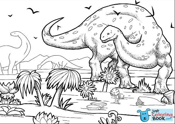 Pin On Dinosaur Coloring Page