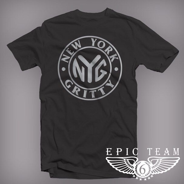"Black & Metallic Silver ""New York Gritty"" dropping next week!!! This will be available on our site www.ShopET6.com very soon. #epicteam6 #clothing #culture #independent #brand #urban #street #nyc #skatelife #streetwear #custom #design #fashion #icon #waves #fly #fresh #business #entrepreneur #dope #music #hiphop #legacy #tradition #ambition #determination #waves #paperchasers"