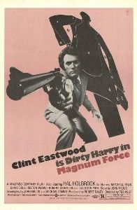 Magnum Force is a 1973 American police thriller film and the second to feature Clint Eastwood as maverick cop Harry Callahan after the 1971 film Dirty Harry. Ted Post, who also directed Eastwood in TV's Rawhide and the feature film Hang 'Em High, directed the second film in the Dirty Harry series. The screenplay was written by John Milius (who provided an uncredited rewrite for the original film) and Michael Cimino.