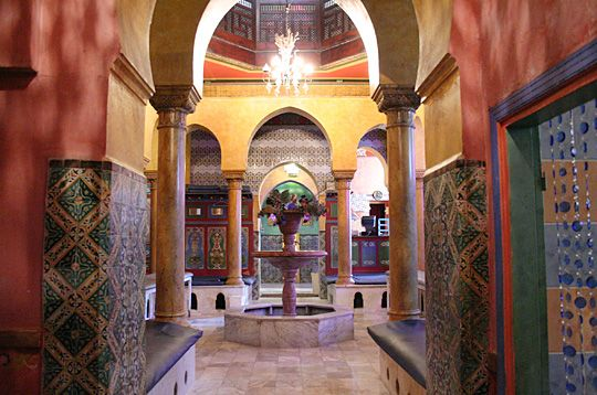 Le hammam de la Mosquée - 39, rue Geoffroy Saint-Hilaire, 75005 Paris. Good for a scrub, followed by a mint tea and pastry!