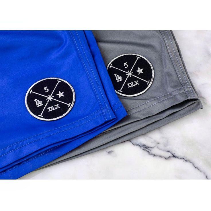 Blue & Gray Swim Shorts for Men | Designer Swimwear for Men | Los Angeles