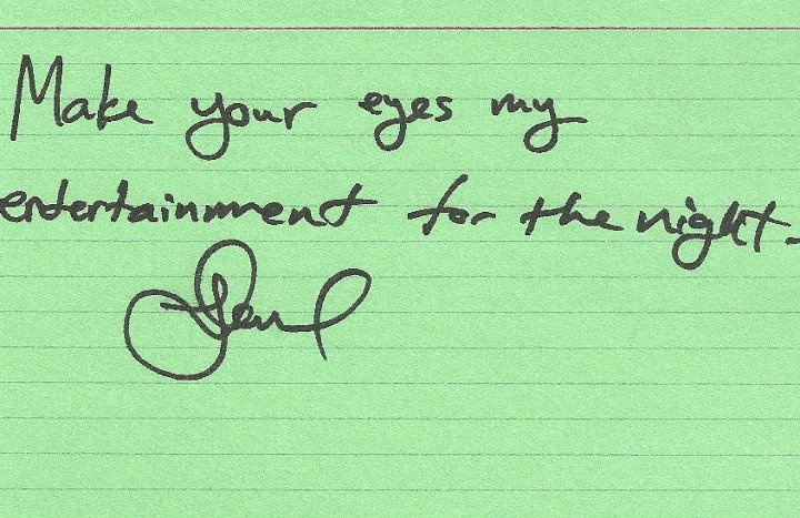 Yeah he wrote this for us. Nbd.