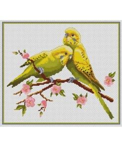 Parakeets love. Tons of FREE CROSS-SITCH PATTERNS at this site: just found a site that has really easy to download embroidery patterns for free. It's http://club-point-de-croix.com/?code_avantage=CWcplRsmji Plus, if you click on this link, http://club-point-de-croix.com/?code_avantage=CWcplRsmji  , you'll automatically receive a gift when you subscribe. I use this site all the time; there are hundreds of all different types of patterns, and there are new patterns added everyday.