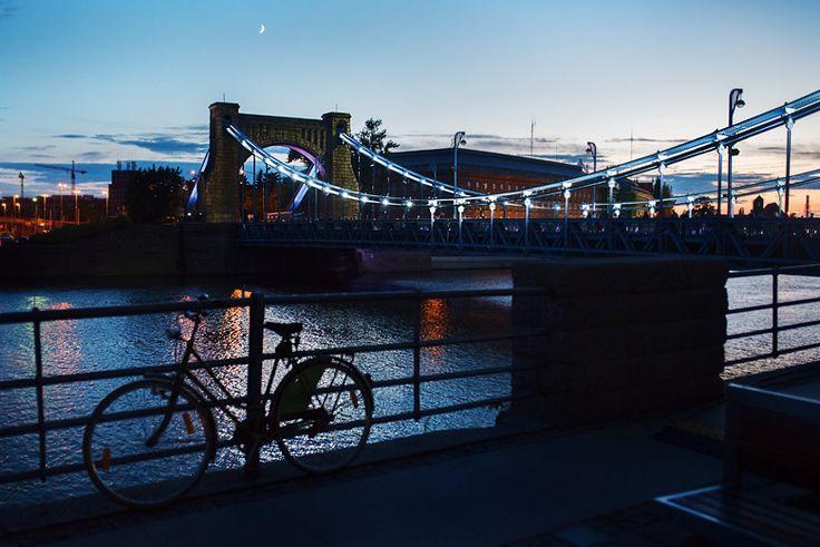 Most Grunwaldzki podczas Nocnego Półmaratonu.