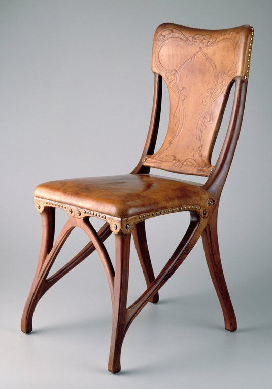 Art Nouveau dining chairs.  Probably out of my price range, but I would LOVE to have these.