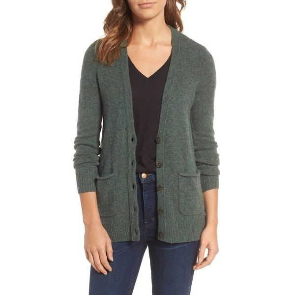 Women's Madewell Cozy Boyfriend Cardigan (495 SEK) ❤ liked on Polyvore featuring tops, cardigans, heather moss, madewell cardigan, madewell, lightweight cardigan, madewell tops and slouchy tops