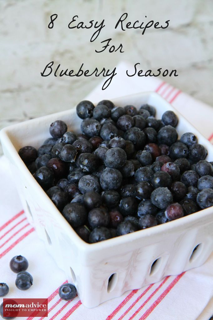 8 Easy Recipes for Blueberry Season from MomAdvice.com. #blueberry #freezercooking