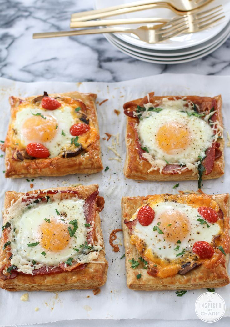 Breakfast Pies - so simple to make for a quick, but fancy breakfast. Vary the ingredients to suit your tastes. (scheduled via http://www.tailwindapp.com?utm_source=pinterest&utm_medium=twpin)