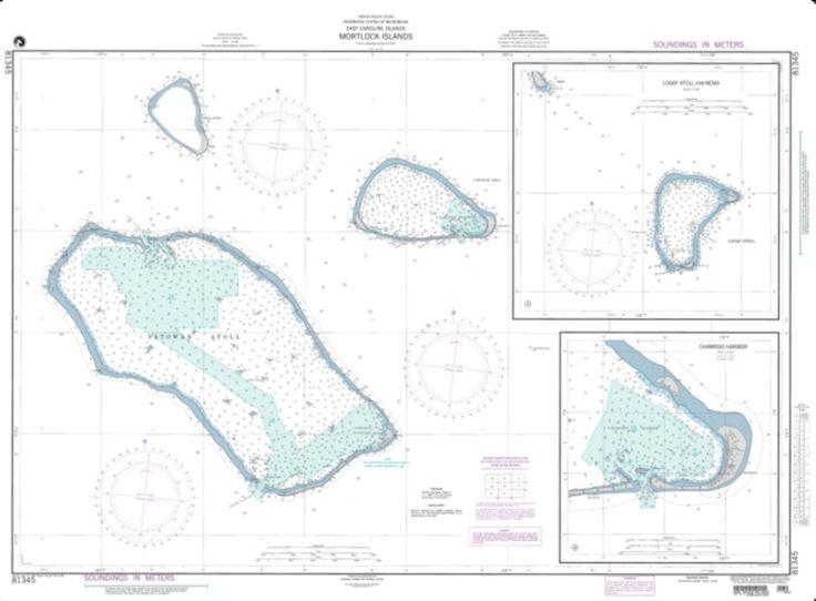 Mortlock Islands, East Caroline Islands (NGA-81345-3) by National Geospatial-Intelligence Agency