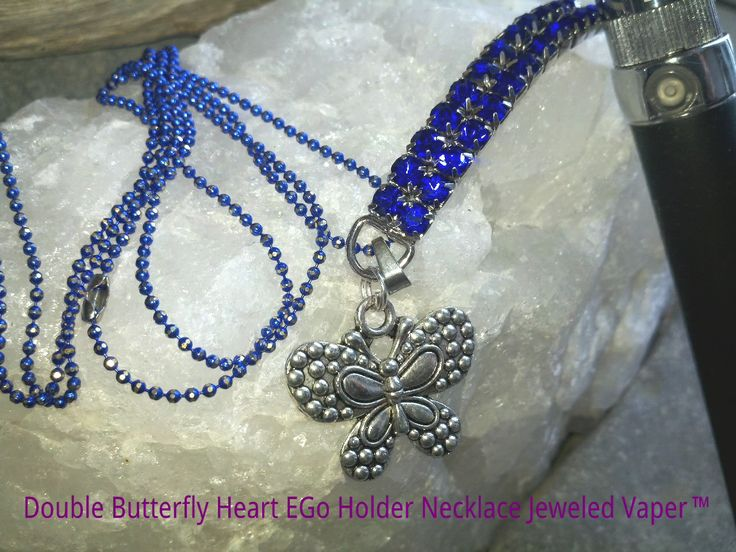Double Butterfly Silhouette Charm EGo E Cig Ring Holder Necklace available to fit the 510 ECig as well. Pick your Necklace Color Purple, Fushia, Pink, Red, Green, Blue, Silver, Gold/Yellow, Gunmetal Black, Silver $22.95 ORDER INFO - In Box Message Us, top of FB page with your Full Name, Email Address, Shipping Address. Choose either PayPal (U.S.) or Interac E (Canada) for payment. An invoice will be sent to you from Goddess Fab Jewelry Design Studio. Thank you & Vape On!