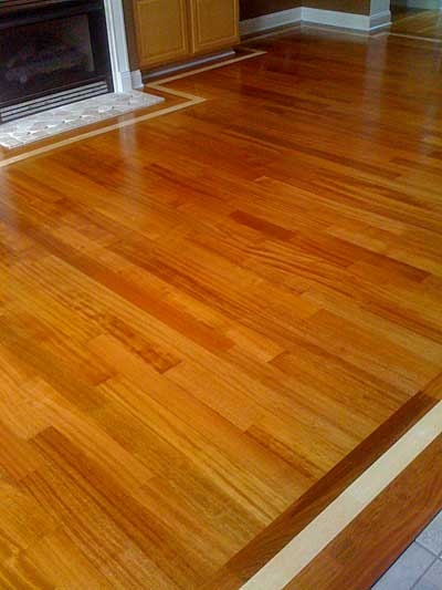 Green Step Flooring Brazilian Cherry With Maple Border