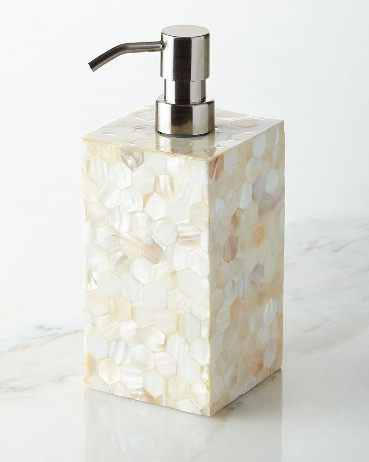 crystal bathroom accessories sets%0A Catalina Pump Dispenser  White  Couture    Bathroom AccessoriesLotionSoapPumpsChoux
