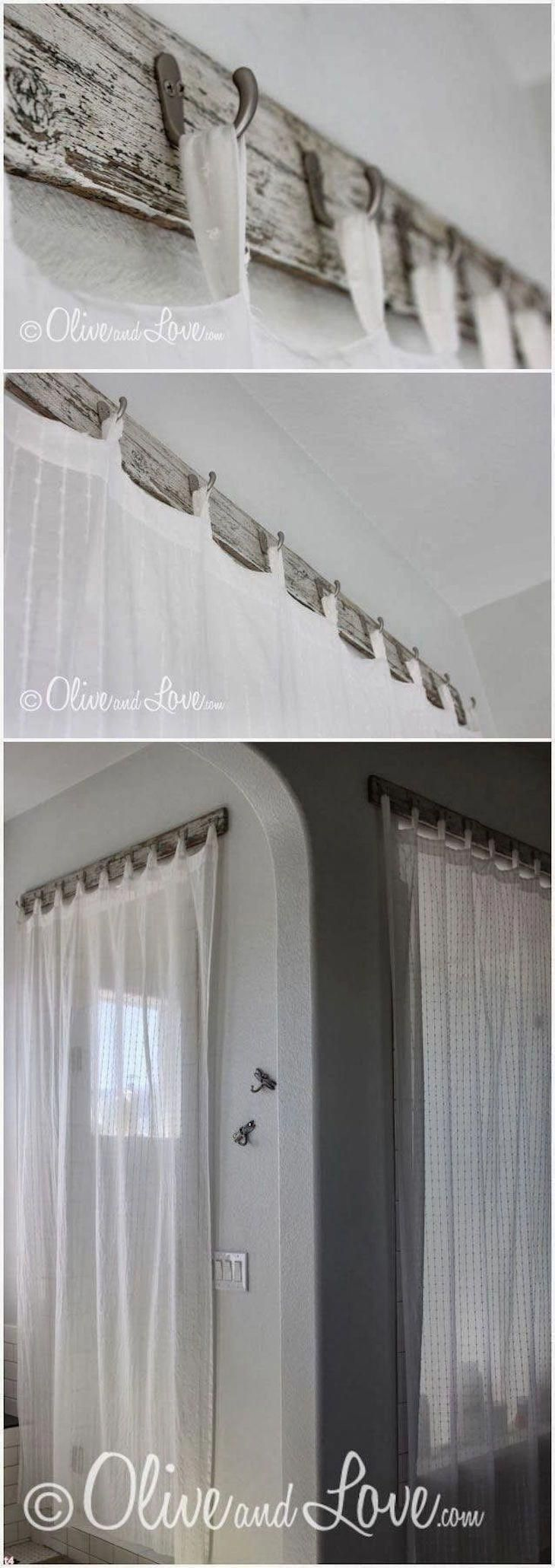 Not only curtains but also a stylish curtain rods …