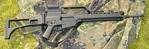5.56.NATO G36 from Heckler & Koch. Find our speedloader now! http://www.amazon.com/shops/raeind