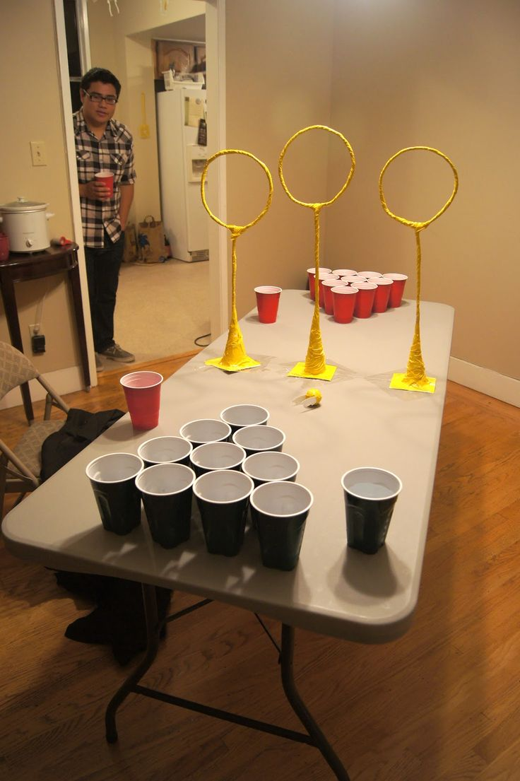 Quidditch Pong... aka beer pong for awesome people. I need this asap!
