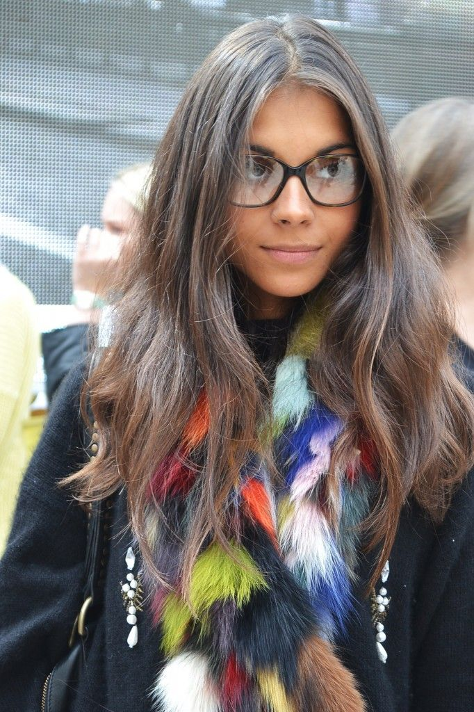 Multi-colour Faux-Fur Scarf