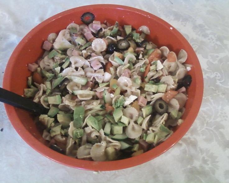 "Greek Pasta Salad - By Pam Wattenbarger - From ""Just Like June""Pam Wattenbarg, Greek Salads Mail, Wheat Pasta, Salad Recipe, Fabulous Foodies, Favorite Recipe, Food Recipe, Cold Pasta Salads, Greek Salad"