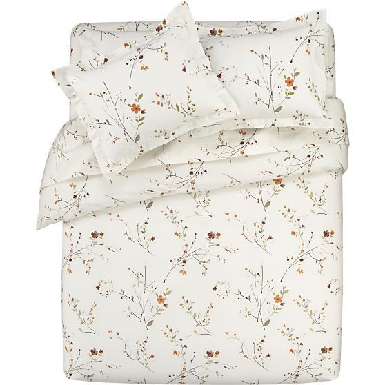 Duvet covers beds and crates on pinterest for Crate barrel comforter