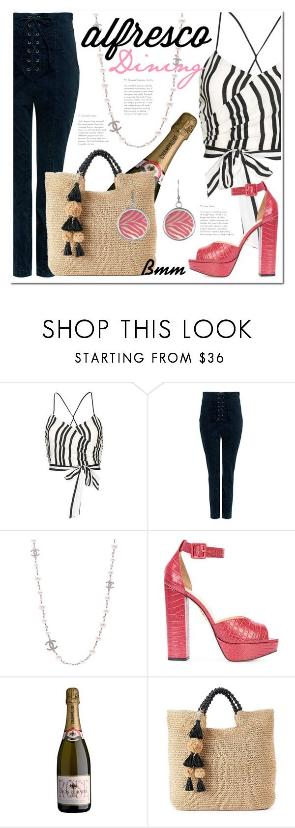 """Stasera si cena Al Fresco!!"" by bianca1408 ❤ liked on Polyvore featuring Alice + Olivia, A.L.C., Chanel, Charlotte Olympia, SONOMA Goods for Life and alfrescodining"