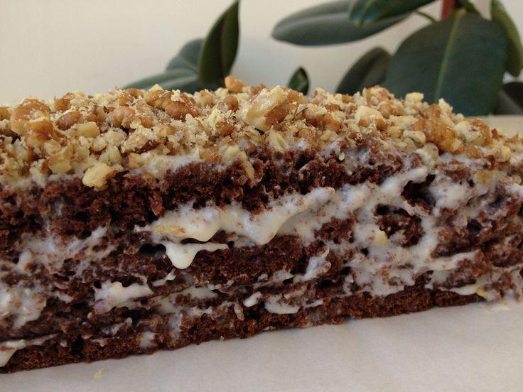 Шоколадный торт на кефире - обалденный и сочный!!! (chocolate cake)