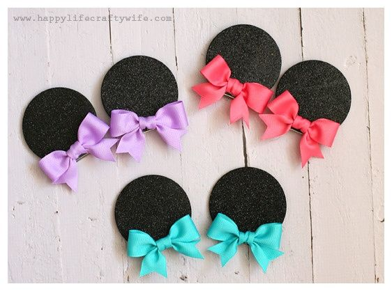 Mouse hair clips instead of buying Mouse Ears - Includes step by step instructions