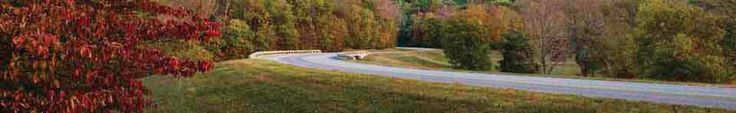 Tthe Natchez Trace Parkway - so pretty and relaxing to drive - no commercial signs, just endless beautiful vistas.