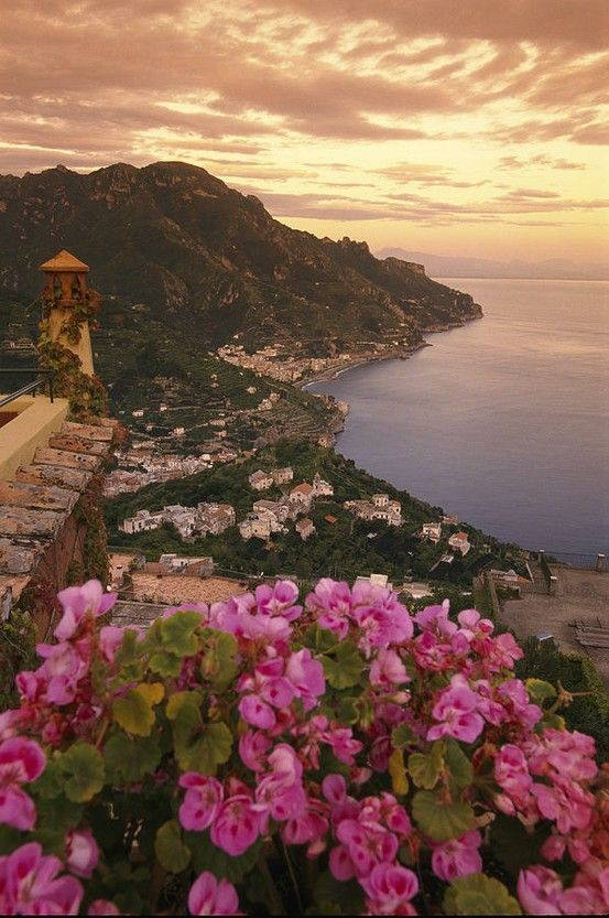 View Of The Ravello Coastline, Italy | via tumblr