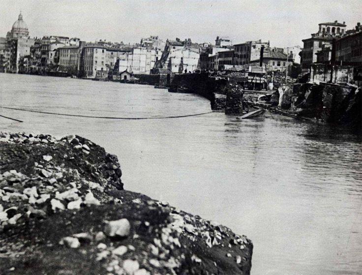 A.Ravaglioli, Le Rive del Tevere, tra San Giovanni dei Fiorentini e Palazzo Falconieri, 1879