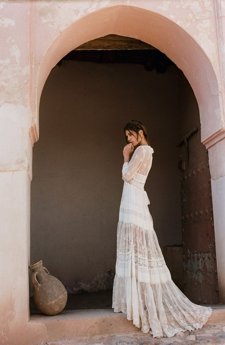 "Spell & the Gypsy Collective Spell Bride' 2017 Muse Mila De Wit-Burke Photographer/Art Direction Brydie Mack Hair & Makeup Luciana Rose Styling Assistant Lily Reed Jones Production Mel Carrero & Fred Fantun Productions ""This campaign, captured on 35mm film by Brydie Mack was shot at a 19th Century Kasbah outside of the city of Marrakech. The tones of ochre, blush …"