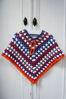 Haakpakket holland poncho | Echtstudio Inclusief link naar tutorial voor het haken van een kinderponcho #crochet #haken
