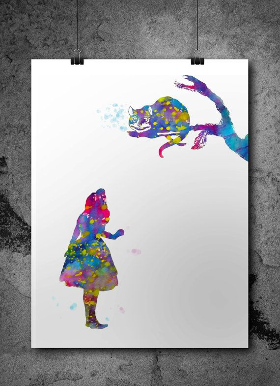 Watercolor Print Watercolors And Cats On Pinterest
