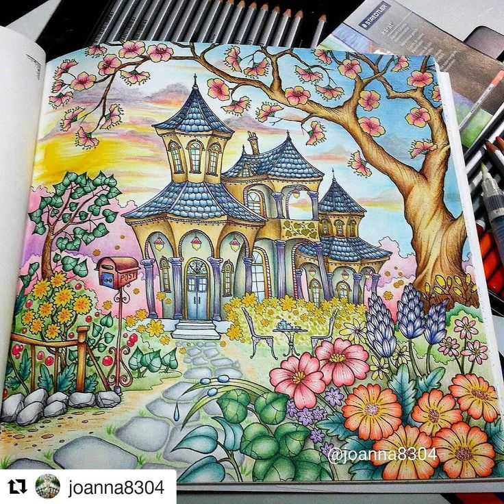 Romantic Country Coloring Book Finished Pages