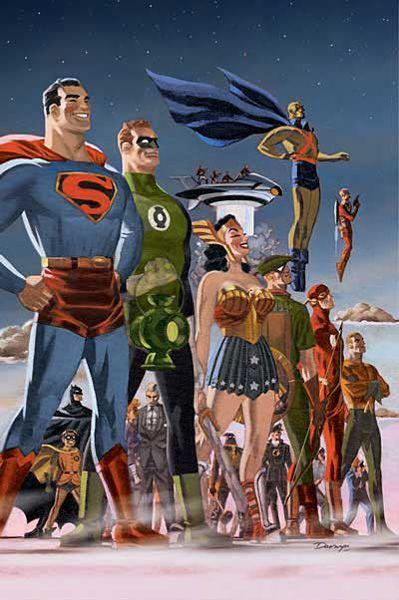 New Frontier Heroes//Darwyn Cooke/C/ Comic Art Community GALLERY OF COMIC ART