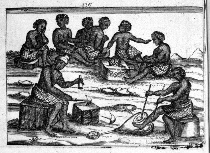 Metalworking, Kingdom of Kongo, late 17th cent Giovanni Antonio Cavazzi, Istorica Descrizione de Tre Regni Congo, Matamba, et Angola (Milan, 1690); African Blacksmith